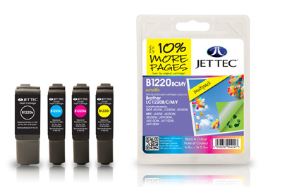 Jet Tec B1220MP Remanufactured Brother LC1220 Multipack ink cartridges