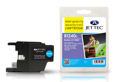 Jet Tec B1240C Remanufactured Brother LC1240 Cyan Ink Cartridges