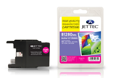 Jet Tec B1280M Remanufactured Brother LC1280XL Magenta Ink Cartridges