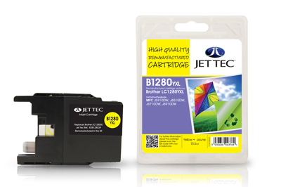 Jet Tec B1280Y Remanufactured Brother LC1280XL Yellow Ink Cartridges