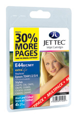 Jet Tec E44MP multipack Epson T0441/2/3/4 inkjet printer cartridges