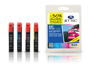 Jet Tec E61MP remanufactured multipack T0615 inkjet printer cartridges