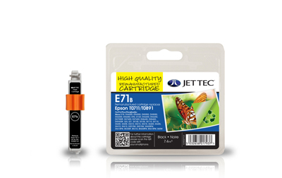Jet Tec E71B black remanufactured Epson T0711 inkjet printer cartridge