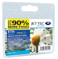 Jet Tec E73C cyan compatible Epson T0732 inkjet printer cartridges