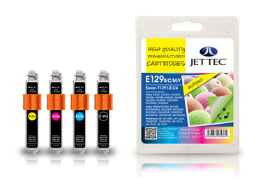 Jet Tec E129MP remanufactured Epson T1295 inkjet printer cartridges