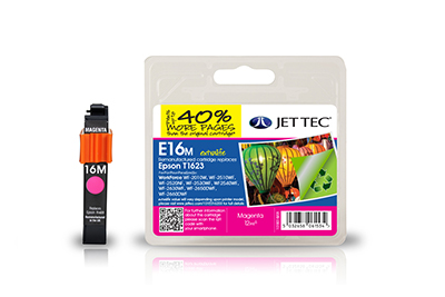 Jet Tec E16MXL remanufactured magenta Epson T1623 inkjet printer cartridge