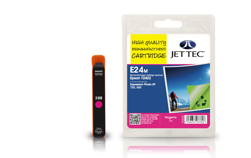 Jet Tec E24M remanufactured Epson T2423 ink cartridges