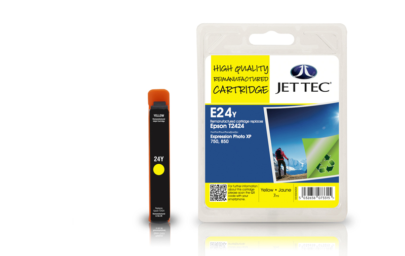 Jet Tec E24Y remanufactured Epson T2424 ink cartridges