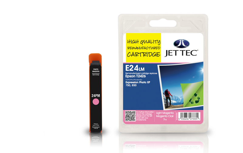 Jet Tec E24LM remanufactured Epson T2426 ink cartridges