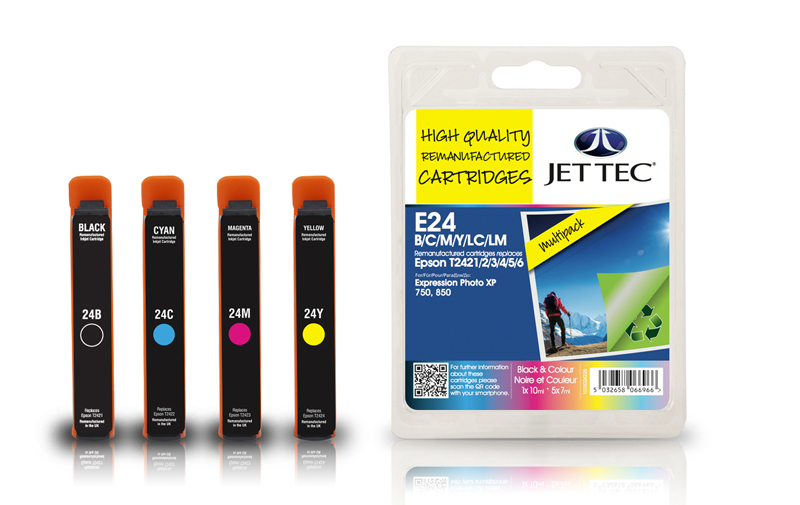 Jet Tec E24MP remanufactured Epson T2428 ink cartridges