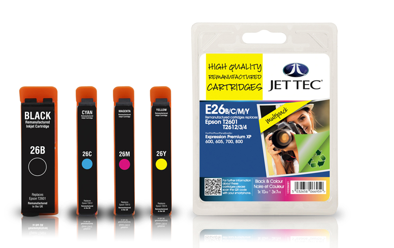 Jet Tec E26MP remanufactured Epson T2616 ink cartridges