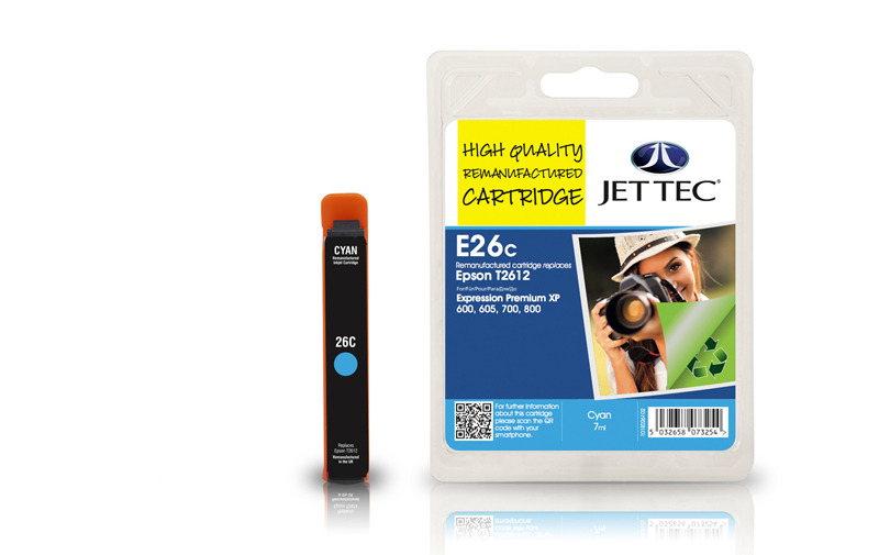 Jet Tec E26C remanufactured Epson T2612 ink cartridges