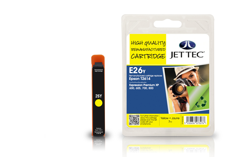 Jet Tec E26Y remanufactured Epson T2614 ink cartridges
