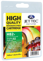 Jet Tec H82Y remanufactured yellow HP82 C4913A ink printer cartridges