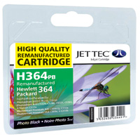 Jet Tec H364PB remanufactured photo black HP364 CB317EE ink cartridges