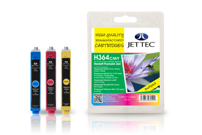 Jet Tec H364CMY remanufactured HP364 inkjet printer cartridges