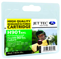 Jet Tec H901BXL remanufactured black HP901XL CC654A inkjet cartridges