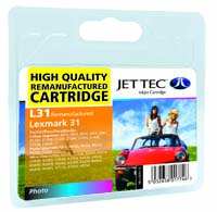 Jet Tec L31 remanufactured Photo Lexmark 18C0031 inkjet cartridges