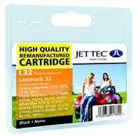 Jet Tec L32 remanufactured black Lexmark 18C0032 inkjet cartridges