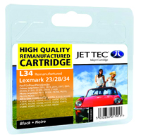 Jet Tec L34 remanufactured black Lexmark 18C0034 inkjet cartridges