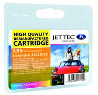 Jet Tec L35 remanufactured colour Lexmark 18C0035 inkjet cartridges