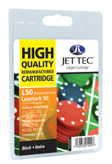 Jet Tec L50 remanufactured black Lexmark 17G0050 ink printer cartridge