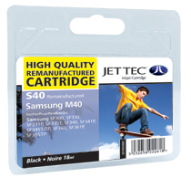 Jet Tec S40 remanufactured black Samsung M40 inkjet printer cartridges
