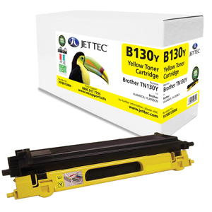 Jet Tec B130Y remanufactured Brother TN130Y laser toner cartridges