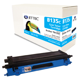 Jet Tec B135C remanufactured Brother TN135C laser printer cartridges