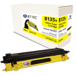 Jet Tec B135Y remanufactured Brother TN135Y toner printer cartridges