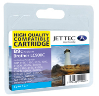 Jet Tec B9C cyan compatible cartridges Brother LC900 ink cartridges