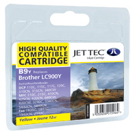 Jet Tec B9Y yellow compatible Brother LC900 printer ink cartridges