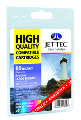 Jet Tec B9MP compatible Brother LC900 black/cyan/magenta/yellow inks