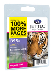 Jet Tec B95M magenta compatible Brother LC985 printer ink cartridges