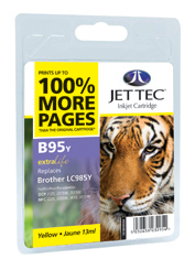 Jet Tec B95Y yellow compatible Brother LC985 printer ink cartridges
