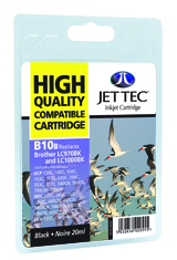 Jet Tec B10B compatible Brother LC970 and LC1000 Black ink cartridges