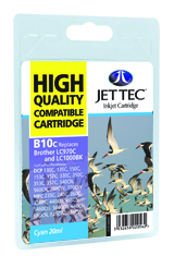 Jet Tec B10C compatible Brother LC970 and LC1000 Cyan ink cartridges