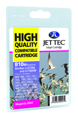 Jet Tec B10M compatible Brother LC970 & LC1000 magenta ink cartridges