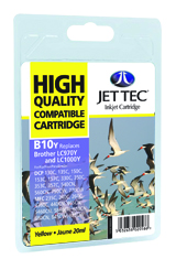 Jet Tec B10Y compatible Brother LC970 and LC1000 Yellow ink cartridges