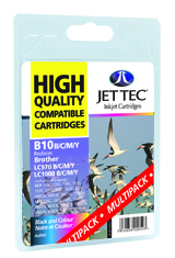 Jet Tec B10MP compatible Brother LC970 & LC1000 ink cartridges