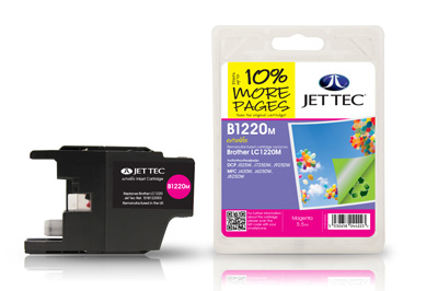 Jet Tec B1220M Remanufactured Brother LC1220 Magenta Ink Cartridges