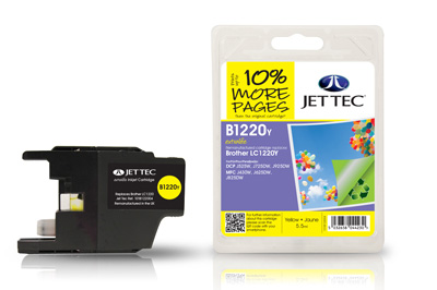 Jet Tec B1220Y Remanufactured Brother LC1220 Yellow Ink Cartridges