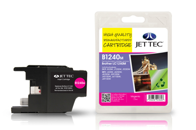 Jet Tec B1240M Remanufactured Brother LC1240 Magenta Ink Cartridges