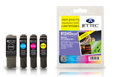 Jet Tec B1240MP Remanufactured Brother LC1240 Multipack ink cartridges