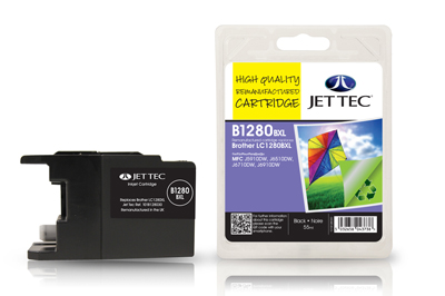 Jet Tec B1280B Remanufactured Brother LC1280XL Black ink cartridges
