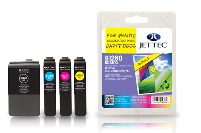 Jet Tec B1280MP Remanufactured Brother LC1280XL Multipack ink cartridges