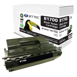Jet Tec B1700 remanufactured Brother TN1700 laser toner cartridges