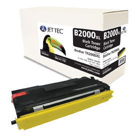 Jet Tec B2000XL remanufactured Brother TN2000XL laser toner cartridges