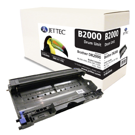Jet Tec BD2000 remanufactured Brother DR2000 laser toner drum unit