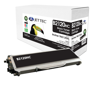 Jet Tec B2120HC remanufactured Brother TN2120 laser toner cartridges